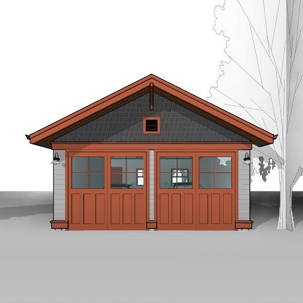 Craftsman 20 X20 Detached Two Car Garage Plans Ready To Download Garage Plans Garage Floor Plans Craftsman House