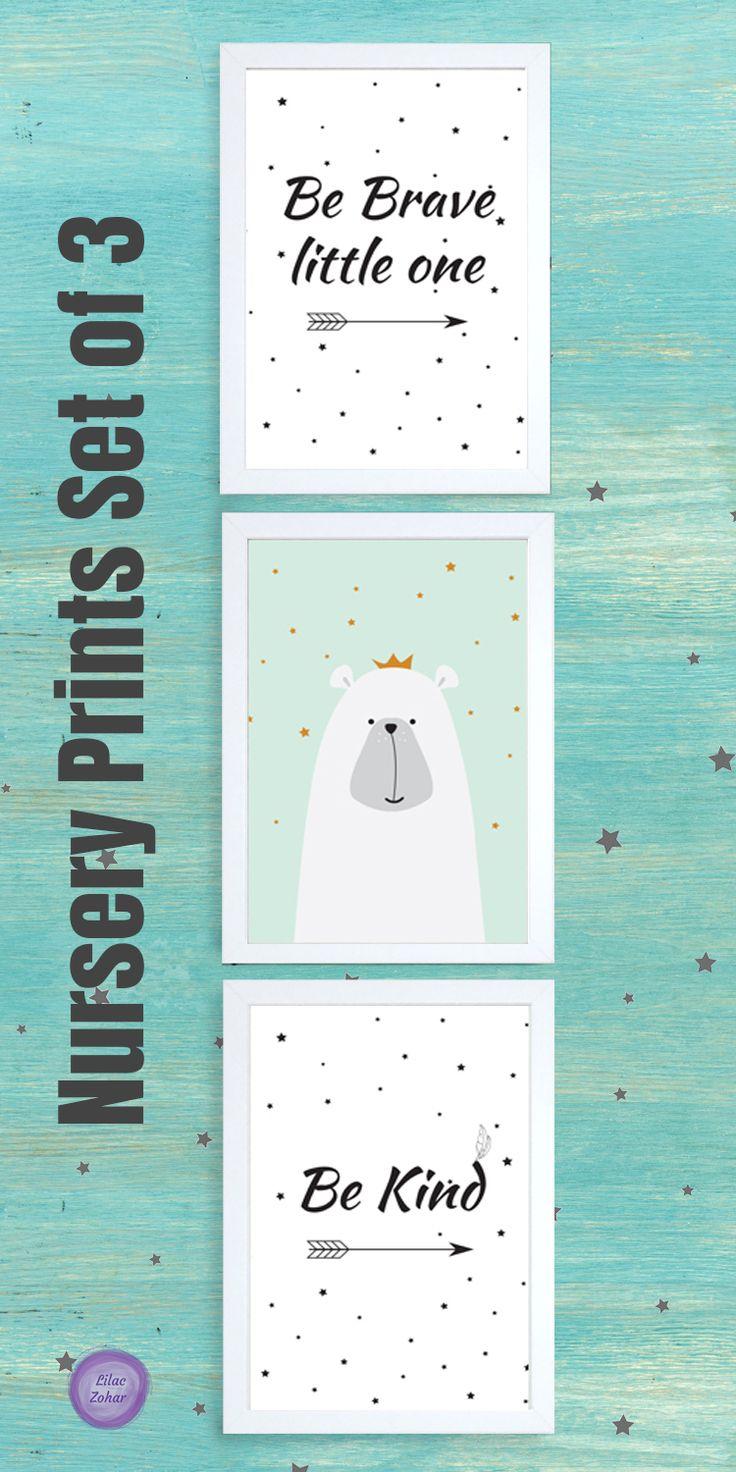 Nursery ideas, nursery prints, nursery room decor, Nursery Decor Wall Art Set, Black and white nursery decor, Woodland nursery wall art, baby boy woodland, Nursery Mint Decor, Tribal wall art