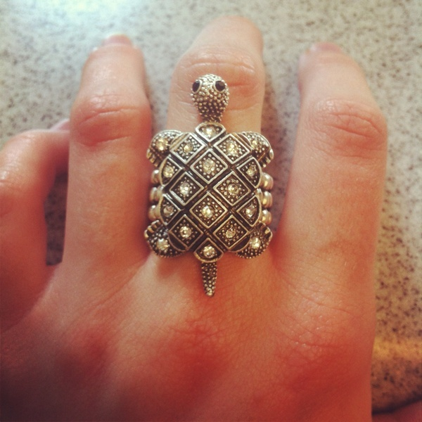 turtle ring from Body Central...this makes me think of my friend Marilyn Nicholas who loves turtles.