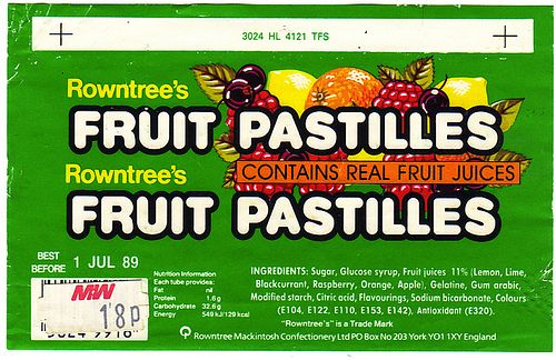 Rowntree's Fruit Pastilles From 1989 by Marc Sayce, via Flickr