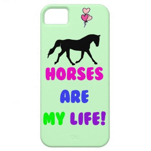 Cute Horses Are My Life iPhone 5 Cases #horses