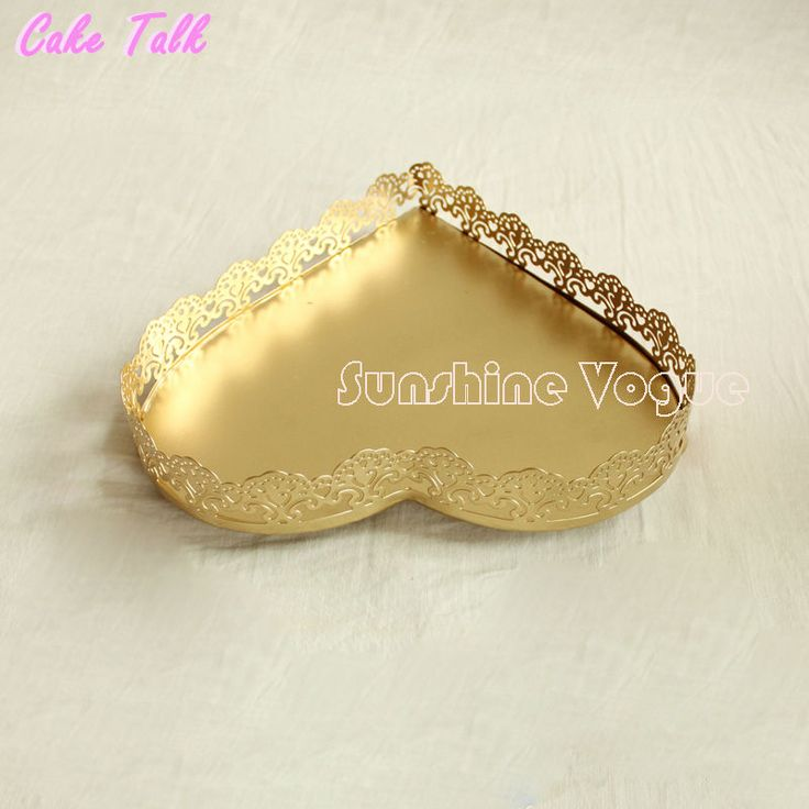 Heart shape gold cupcake stand wedding cupcake tray 3 size for choose dessert plate cake decorating tools-in Stands from Home & Garden on Aliexpress.com | Alibaba Group