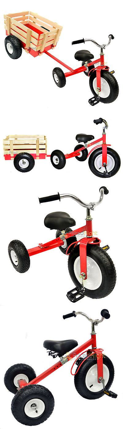 1970-Now 11746: All Terrain Red Tricycle With Wagon Trike Set Pull Along Toy Outdoors Kids Pedal -> BUY IT NOW ONLY: $124.95 on eBay!
