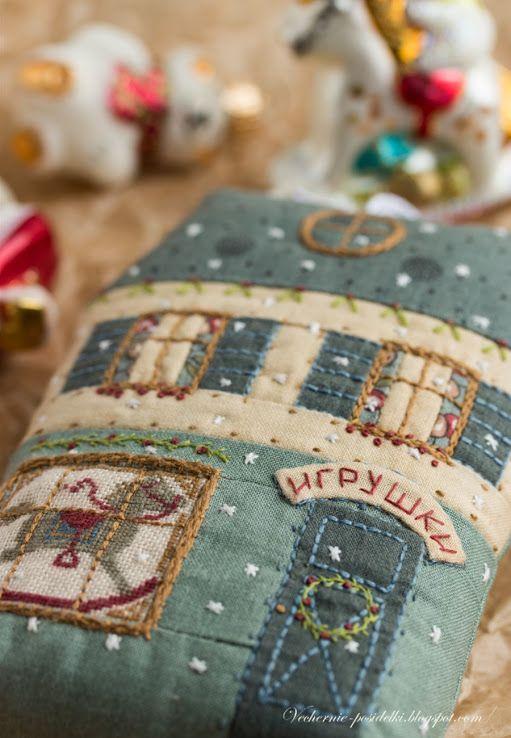 Магазин игрушек / Toys shop - Вечерние посиделки ~ I all the embroidery. Darling little details.