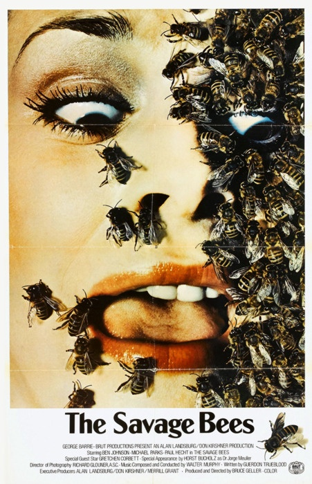 """The Savage Bees, 1976.  """" I see the nightmare"""""""