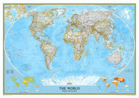 NatGeo  World Political Map Posters at AllPosters.com