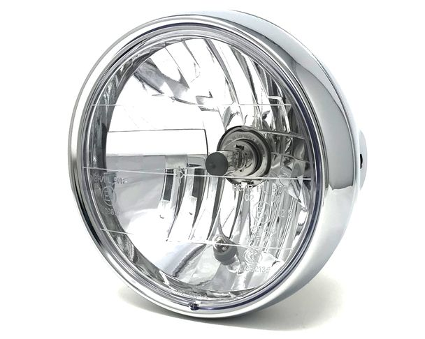 LED Motorbike Headlight 7 for Project Cafe Racer or Streetfighter HOMOLOGATED