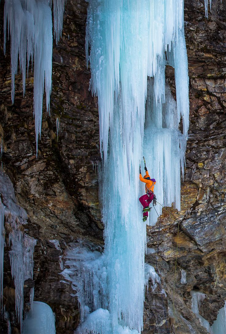 Arc'teryx ice climbing, I have never done this but looks cool!