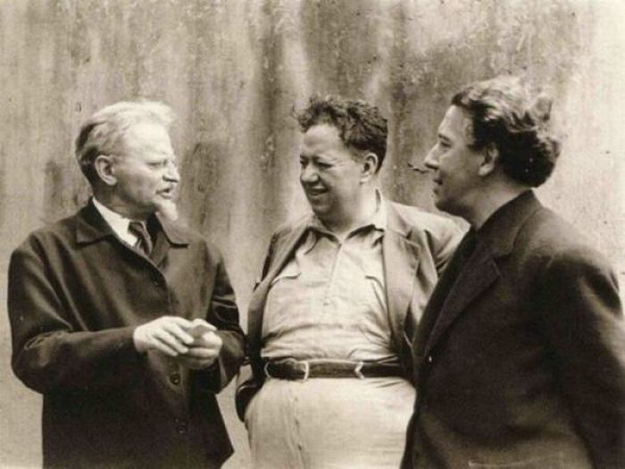 Leon Trotsky, Diego Rivera and Andre Breton