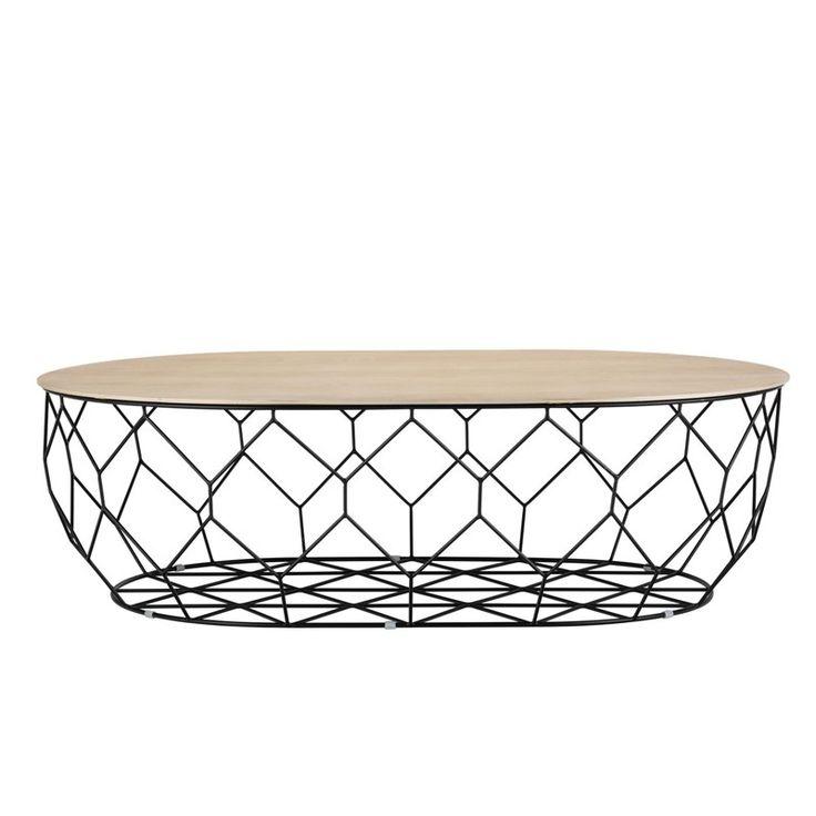 Inspirée par la forme naturelle du nid d'abeille, la table basse ovale Comb de la marque Bolia est aussi solide et légère qu'une ruche. Décoration et mobilier design à Paris.