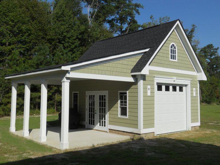Best 25 backyard sheds ideas on pinterest for Carport workshop plans