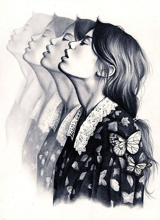 Fashion illustration - contemporary fashion drawing // Kate Louise Powell