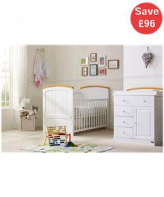 Attrayant Created With Beautiful Curves In A Modern Design This Tutti Bambini  Barcelona 2 Piece Nursery Set Includes A Cot Bed And Chest Changer.