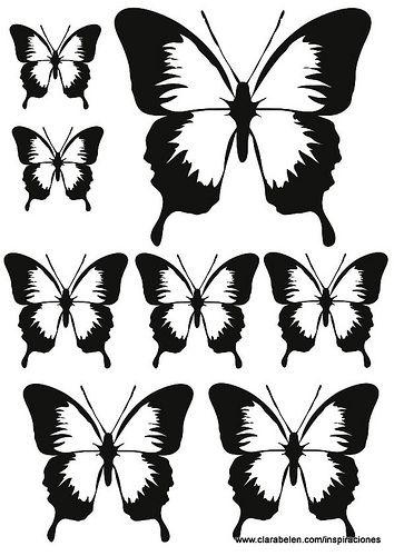 Plantillas De Mariposas Para Manualidades Mariposas Mariposas De