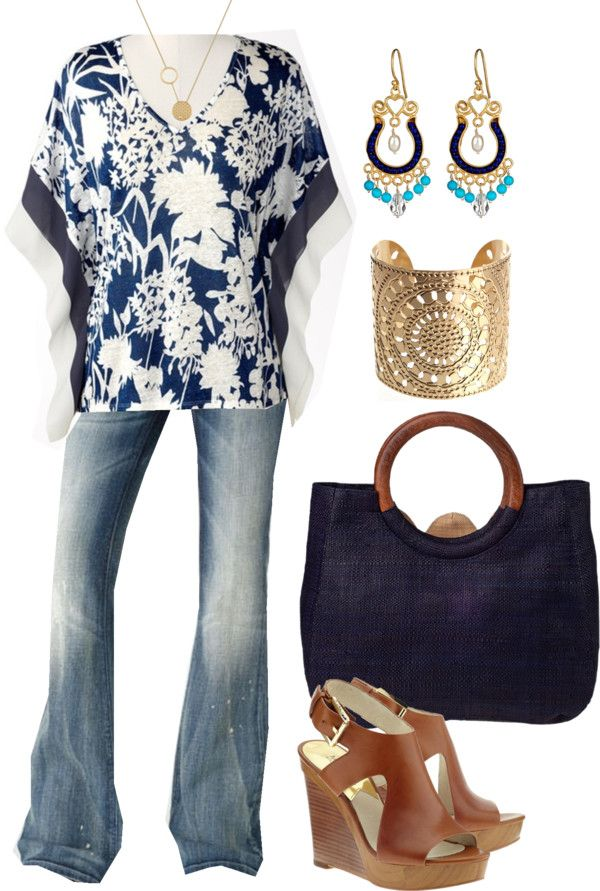 """""""Navy and White - Plus Size"""" by alexawebb ❤ liked on Polyvore"""