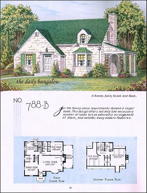 1935 National Plan Service In 2018 1930 Houses House Plans How