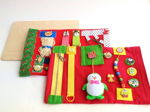 Set Of Busy Board For Baby Activity Blanket Quiet Travel