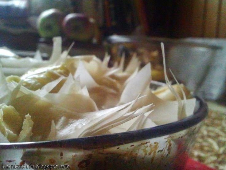 LUŹNA KUCHNIA: Chrupiąca tarta Jabłkowo- marcepanowa