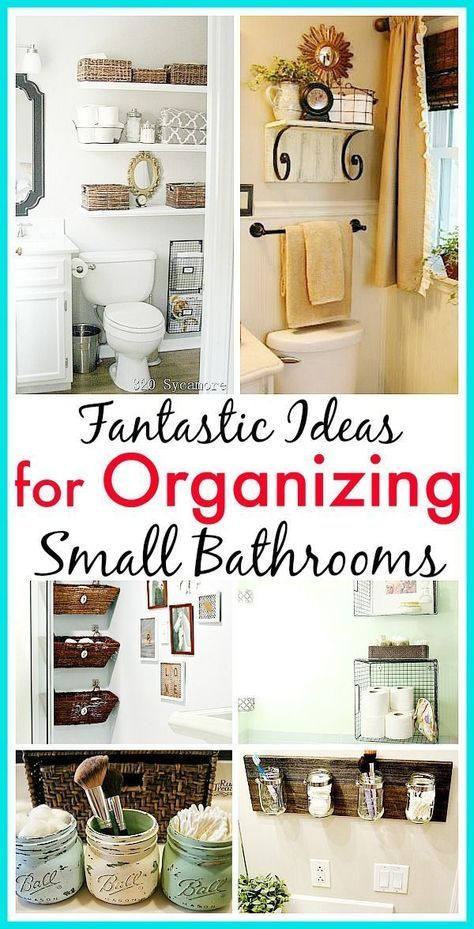 11 Fantastic Small Bathroom Organizing Ideas! See how you can maximize your bathroom storage.