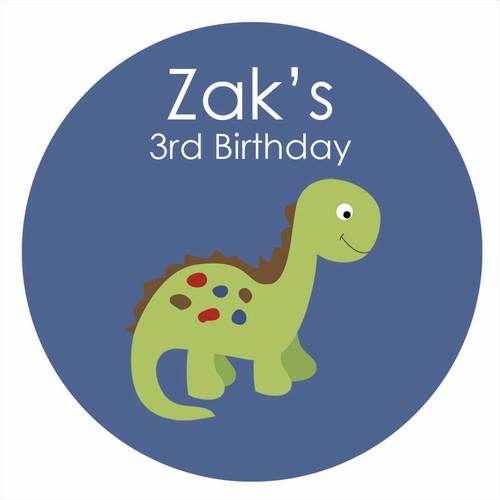 Little Dinosaur Personalised Birthday Cake Icing Sheet - Edible Image.