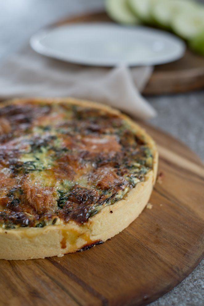 Quiche m. Spinat & Epoisses | Rezept | Französisch kochen