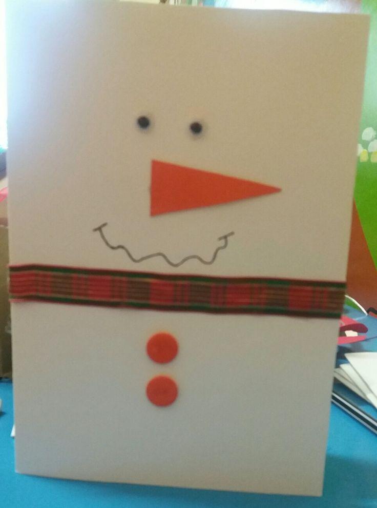 Χιονάνθρωπος κάρτα!