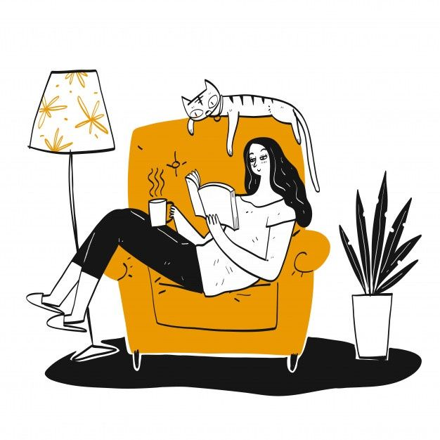 The Woman Reading A Book In 2020 Books To Read For Women Woman Reading Vector Illustration