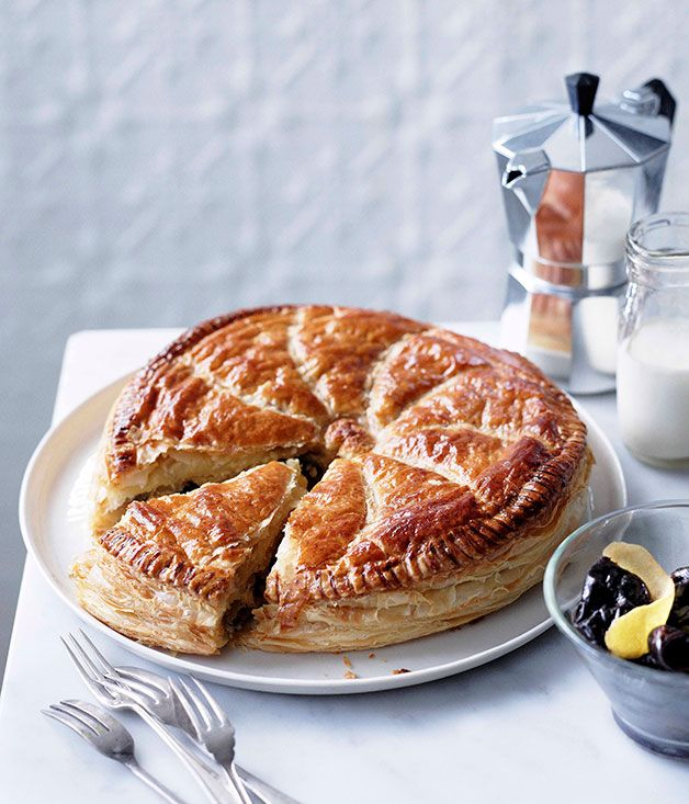 Almond Pithiviers with Armagnac prunes - Gourmet Traveller