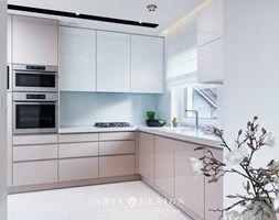 Dom w Mechelinkach - Średnia otwarta kuchnia w kształcie litery l, styl nowoczesny - zdjęcie od Arte Dizain