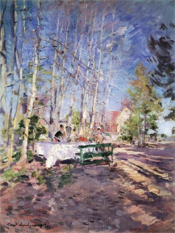 Konstantin Korovin (Russian 1861–1939) [Impressionism, Art Nouveau] Spring, 1917. Russian Museum, St. Petersburg, Russia.