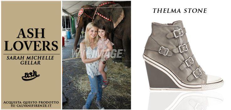 #sarahmichellegellar #sceglie le #sneakers con #zeppa #Thelma Stone di #Ash per una #simpatica #gita al #circo.