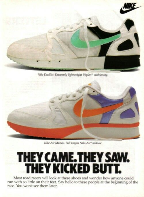 40 Awesome Vintage Nike Sneaker Ads You Don't RememberNike Air Mariah &  Nike Duelist