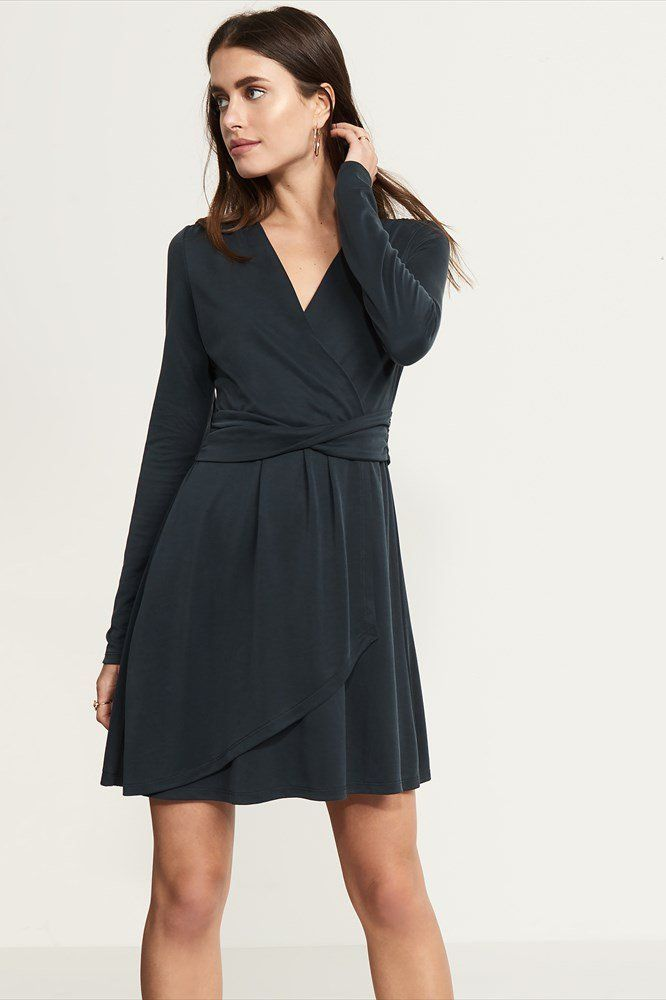 Elevate your day to day in our soft wrap dress.