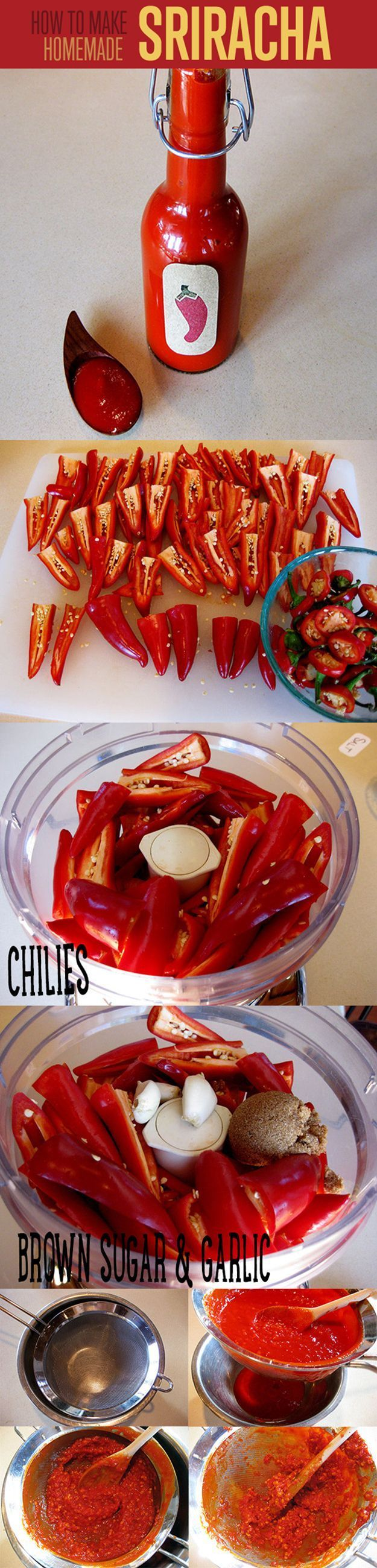 How to Make Hot Sauce | Easy Homemade Sriracha Hot Sauce Recipe by DIY Ready at  http://diyready.com/top-14-hot-sauce-recipes/