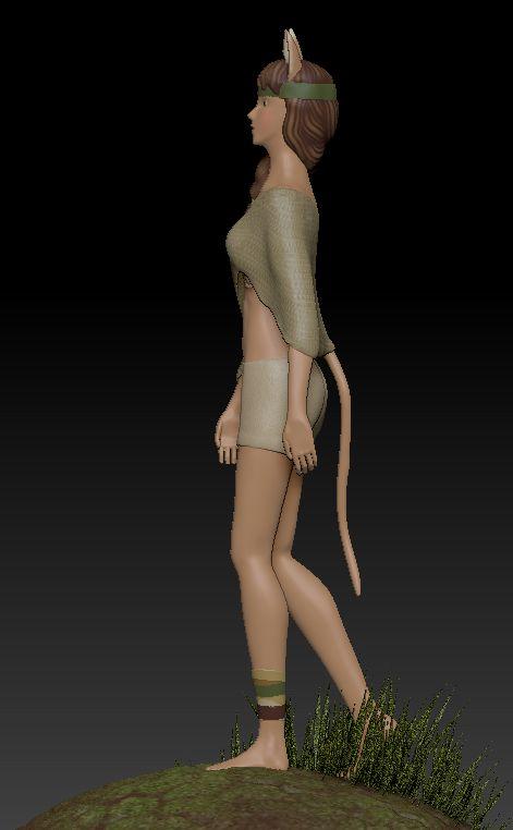 Bàrbara Ruisánchez Andreu: Personaje con ZBrush 3D sculpt digital character girl concept art