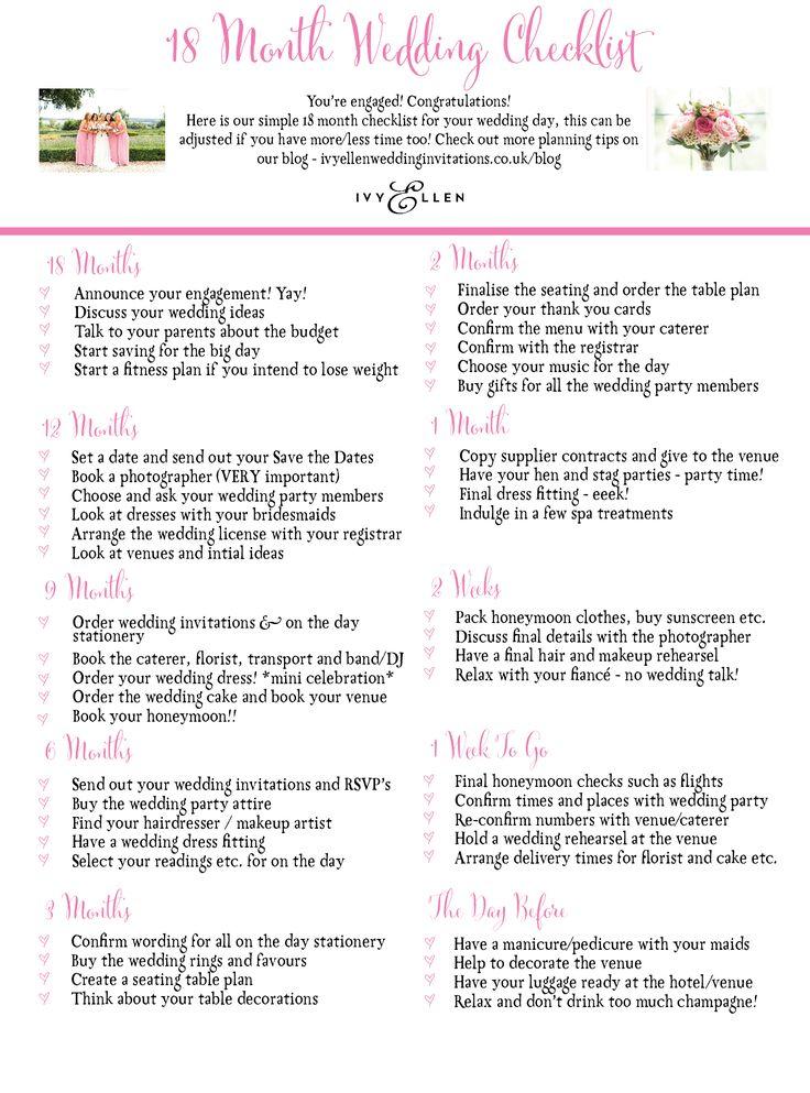 Best 25+ Wedding checklist uk ideas on Pinterest Wedding - wedding list