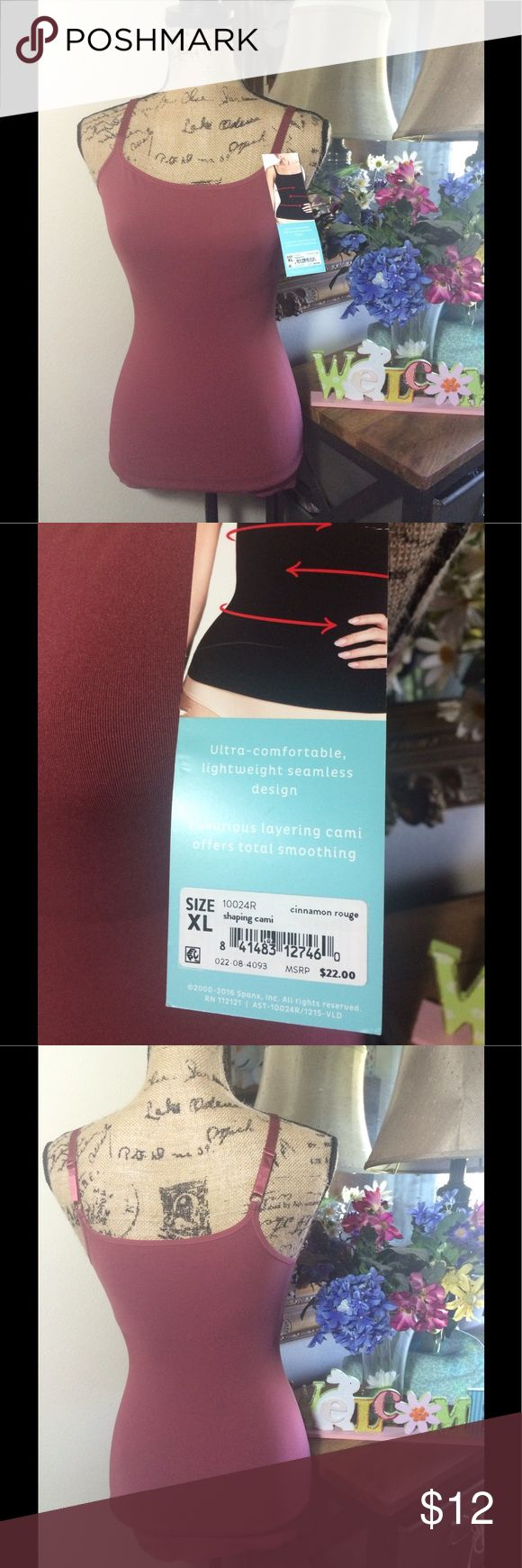 Assets by Spanx Pink Shaping Cami NWT Assets by Spanx Pink Shaping Cami NWT; this is brand new and not used; size XL SPANX Tops Camisoles