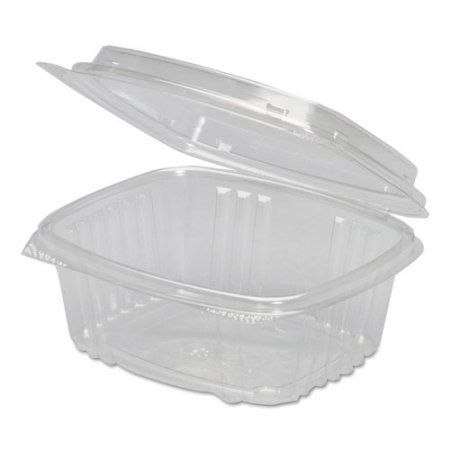 Genpak 12 oz Plastic Hinged Deli Containers, Clear, 100 count, Multicolor