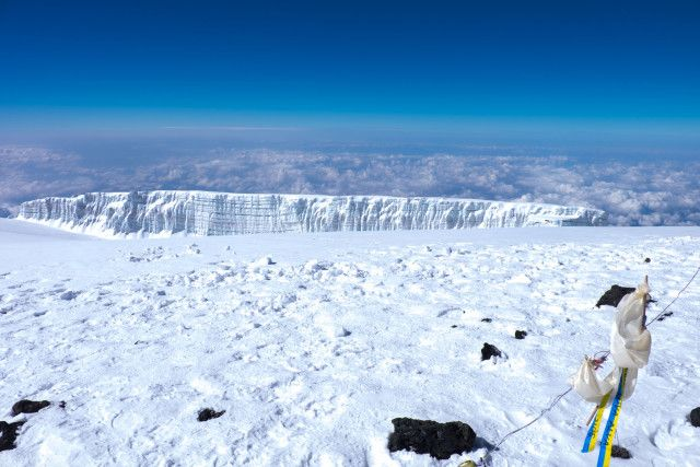 Cubic Glacier On Kili Summit