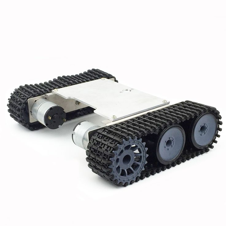 Aluminum Alloy Robot Chassis Tank RC Smart Car With Crawler