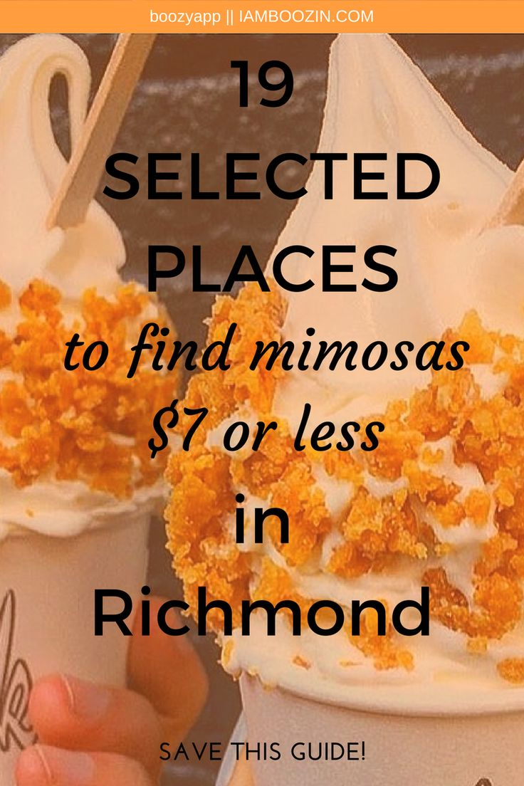 Richmond Brunch | 19 Selected Places To Find Mimosas $7 Or Less In Richmond [Save This Guide]...Click through for more!   Richmond Brunch Brunch Richmond Brunch In Richmond