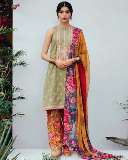 90d06c358b Zara Shahjahan Lawn Collection By Shiwani - 3 Piece Lawn Suits - ZSL-D02-B  (Replica)(Unstitched)