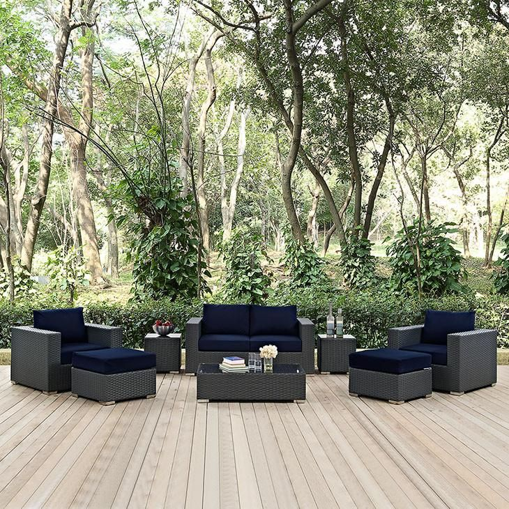 Bring your family and friends together in grand style with the Sojourn 8 Piece Outdoor Patio Sunbrella® Sectional Set.  https://www.barcelona-designs.com/products/sojourn-8-piece-outdoor-patio-sunbrella-sectional-set?variant=40383218957&utm_content=bufferfb679&utm_medium=social&utm_source=pinterest.com&utm_campaign=buffer #sectionalsofa #outdoor #patio #homedecor #interiors #furniture