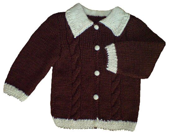 Handmade hand knit hand knitted baby cardigan jacket by woolopia, $27.00