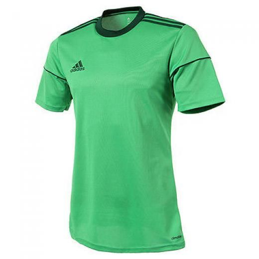 Adidas Men's Squadra 17 Soccer Jersey Training Top Football Shirts S/s Green Short Sleeve [s/s] Bj9184 4057288772354 Polyester 100% Running Soccer Football Gym Cycling Fitness