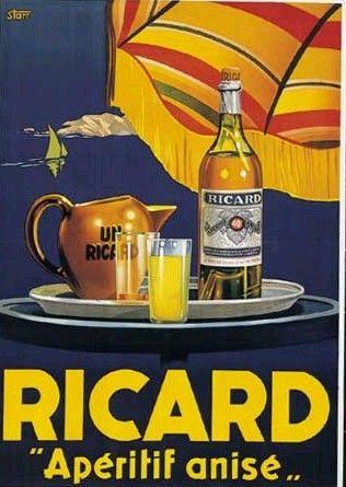 Ricard pastis  http://fr.pinterest.com/LaBelleEchappee/