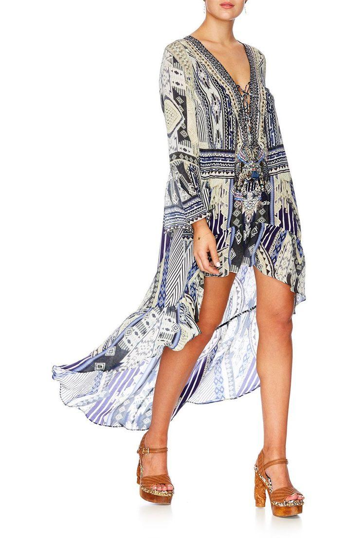 Camilla - Tie The Knot Short Dress W High Low Hem