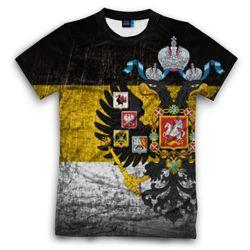 Мужская футболка 3D с полной запечаткой Имперский флаг!