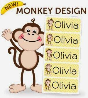 Oliver's Labels brand new Monkey design!