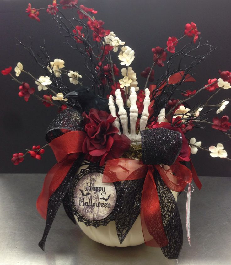 nevermore halloween collection 2014 floral design tara powers michaels of midlothian va - Halloween Centerpieces Wedding
